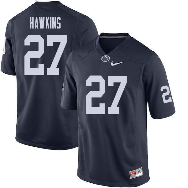 Men #27 Aeneas Hawkins Penn State Nittany Lions College Football Jerseys Sale-Navy