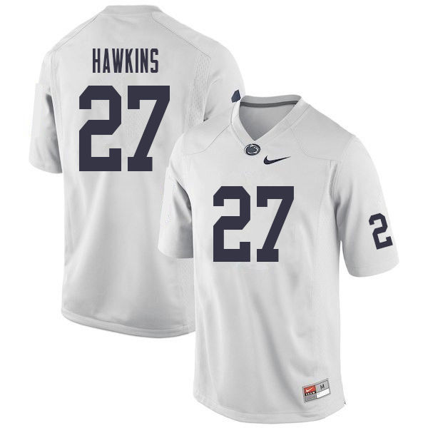 Men #27 Aeneas Hawkins Penn State Nittany Lions College Football Jerseys Sale-White