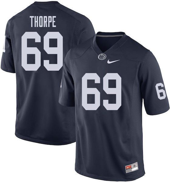 Men #69 C.J. Thorpe Penn State Nittany Lions College Football Jerseys Sale-Navy