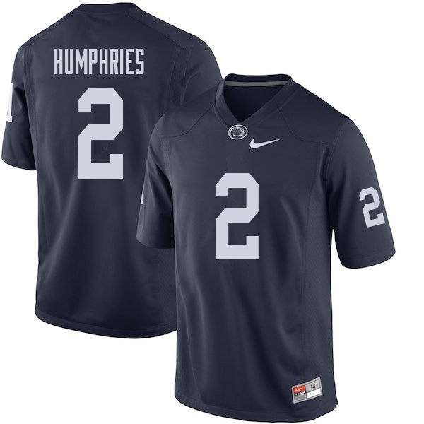 Men #2 Isaiah Humphries Penn State Nittany Lions College Football Jerseys Sale-Navy