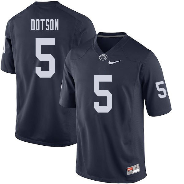 Men #5 Jahan Dotson Penn State Nittany Lions College Football Jerseys Sale-Navy