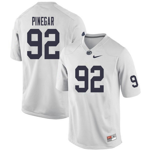 Men #92 Jake Pinegar Penn State Nittany Lions College Football Jerseys Sale-White