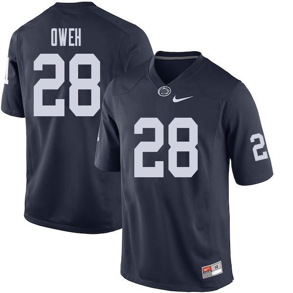 Men #28 Jayson Oweh Penn State Nittany Lions College Football Jerseys Sale-Navy