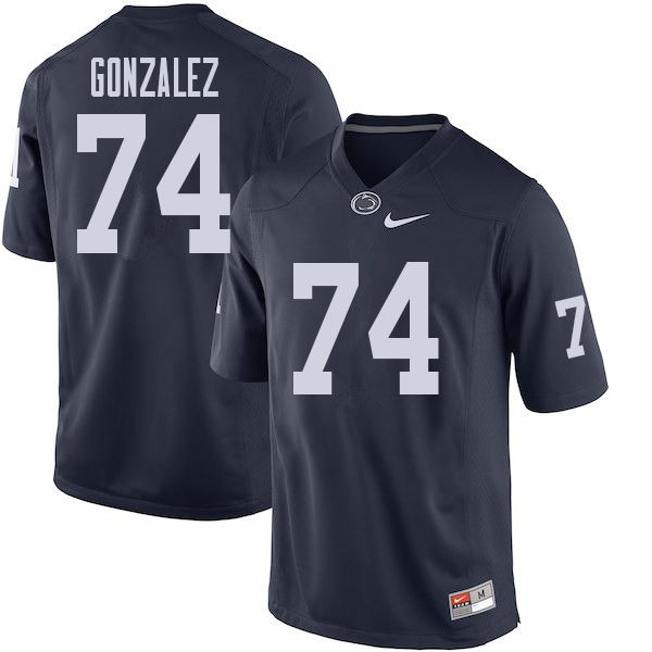 Men #74 Steven Gonzalez Penn State Nittany Lions College Football Jerseys Sale-Navy