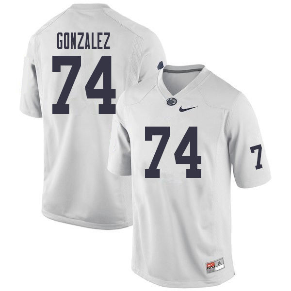Men #74 Steven Gonzalez Penn State Nittany Lions College Football Jerseys Sale-White
