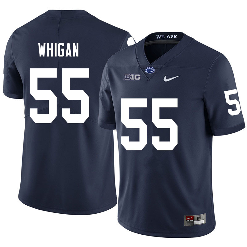Men #55 Anthony Whigan Penn State Nittany Lions College Football Jerseys Sale-Navy