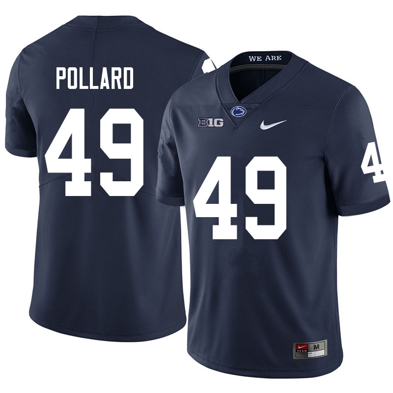Men #49 Cade Pollard Penn State Nittany Lions College Football Jerseys Sale-Navy