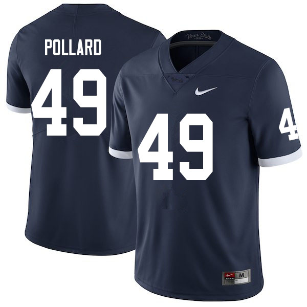 Men #49 Cade Pollard Penn State Nittany Lions College Throwback Football Jerseys Sale-Navy
