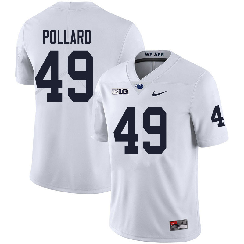 Men #49 Cade Pollard Penn State Nittany Lions College Football Jerseys Sale-White