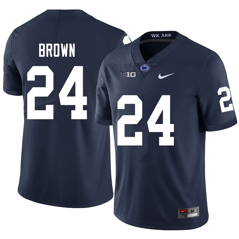Men #24 DJ Brown Penn State Nittany Lions College Football Jerseys Sale-Navy