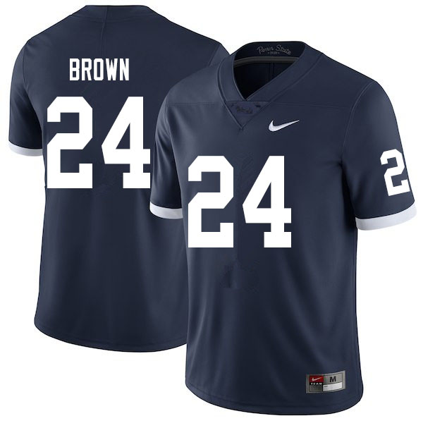 Men #24 DJ Brown Penn State Nittany Lions College Throwback Football Jerseys Sale-Navy