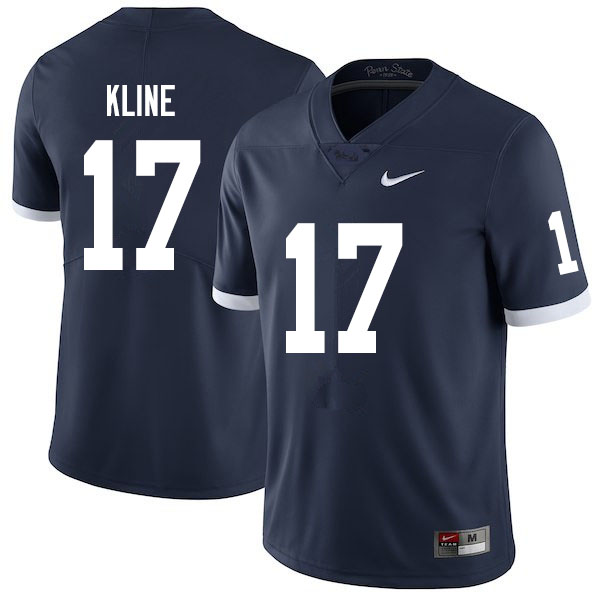 Men #17 Grayson Kline Penn State Nittany Lions College Throwback Football Jerseys Sale-Navy