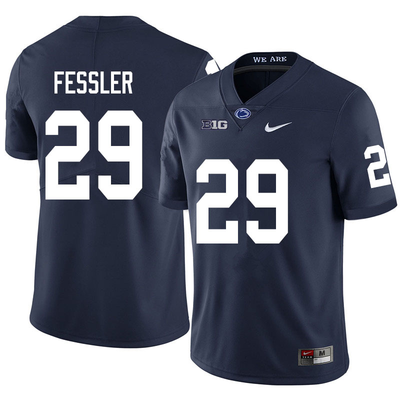 Men #29 Henry Fessler Penn State Nittany Lions College Football Jerseys Sale-Navy