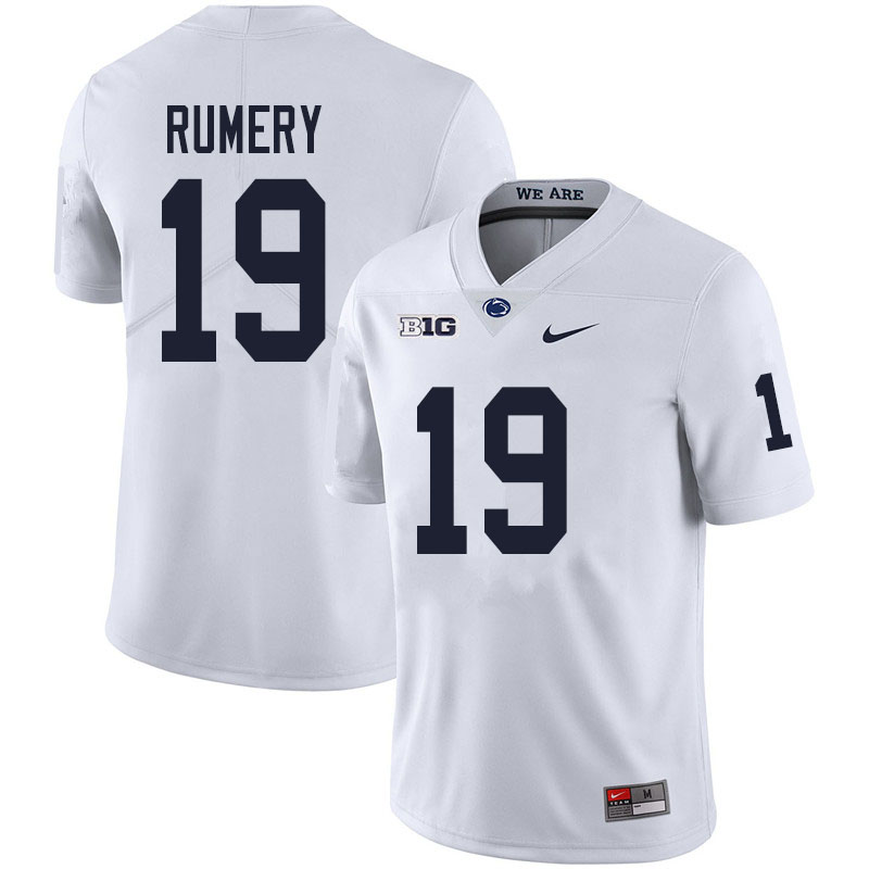 Men #19 Isaac Rumery Penn State Nittany Lions College Football Jerseys Sale-White