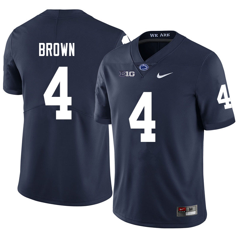 Men #4 Journey Brown Penn State Nittany Lions College Football Jerseys Sale-Navy