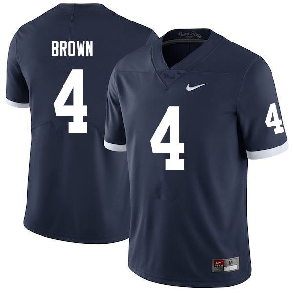 Men #4 Journey Brown Penn State Nittany Lions College Throwback Football Jerseys Sale-Navy