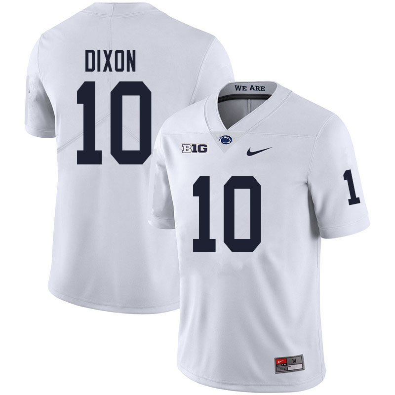 Men #10 Lance Dixon Penn State Nittany Lions College Football Jerseys Sale-White