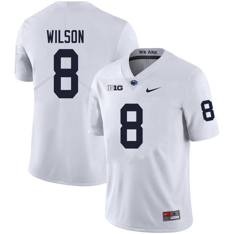 Men #8 Marquis Wilson Penn State Nittany Lions College Football Jerseys Sale-White
