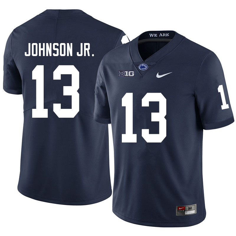 Men #13 Michael Johnson Jr. Penn State Nittany Lions College Football Jerseys Sale-Navy