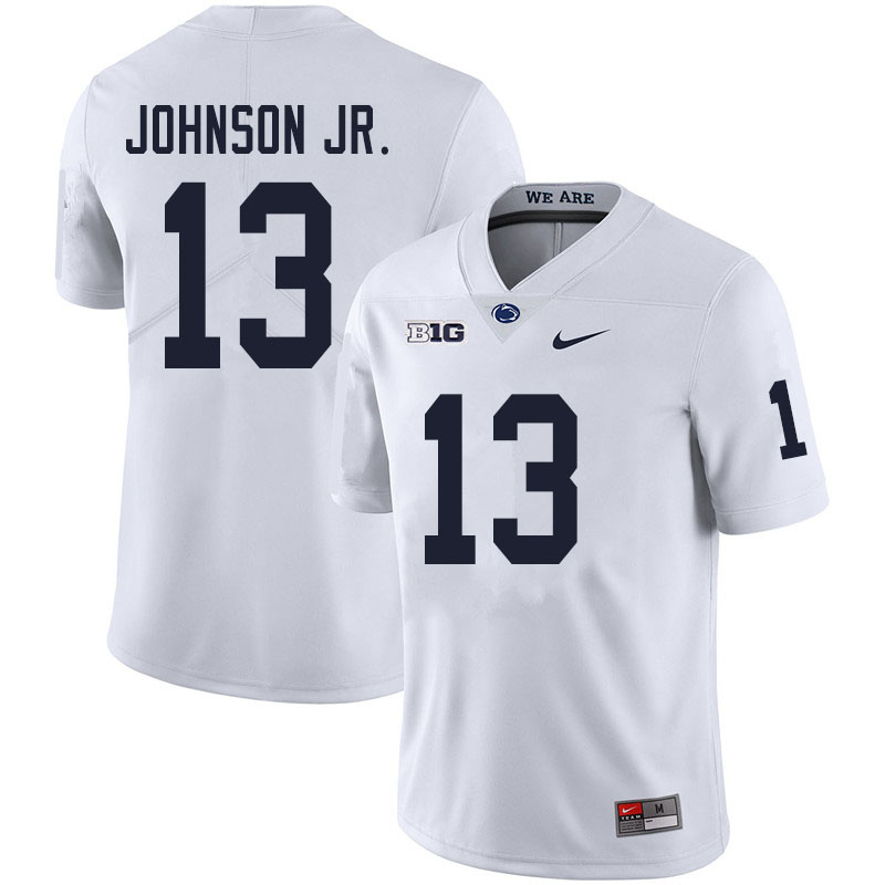 Men #13 Michael Johnson Jr. Penn State Nittany Lions College Football Jerseys Sale-White