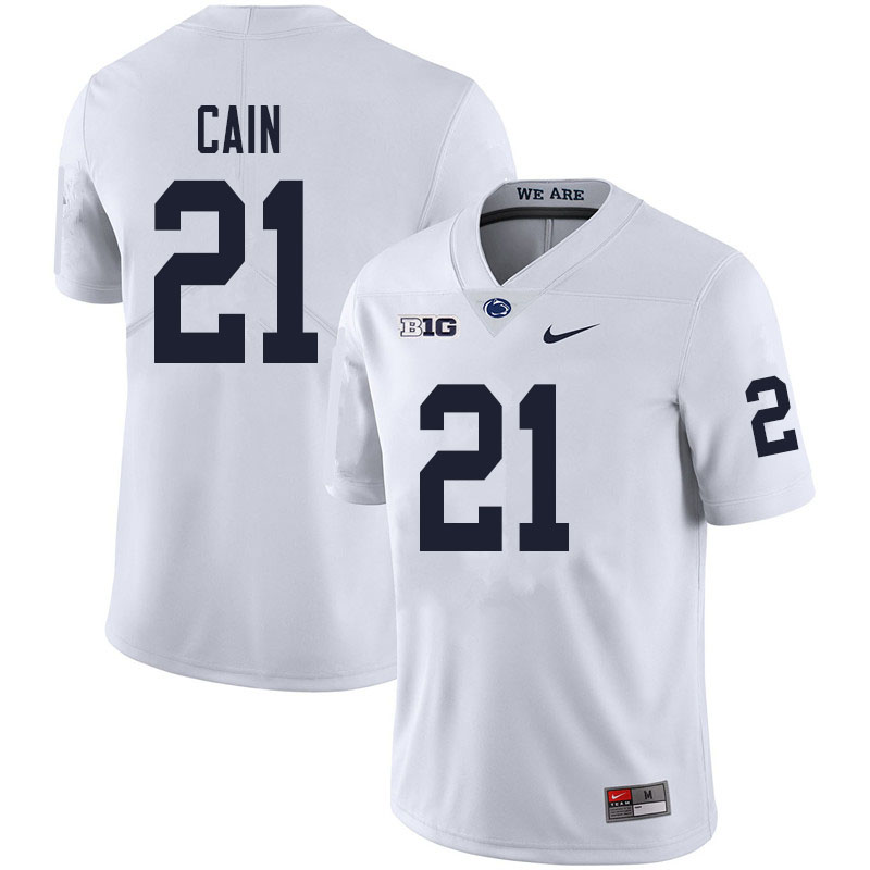 Men #21 Noah Cain Penn State Nittany Lions College Football Jerseys Sale-White