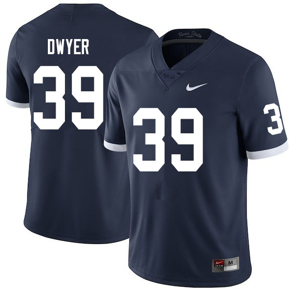 Men #39 Robbie Dwyer Penn State Nittany Lions College Throwback Football Jerseys Sale-Navy