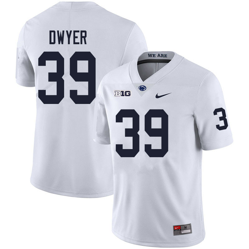 Men #39 Robbie Dwyer Penn State Nittany Lions College Football Jerseys Sale-White