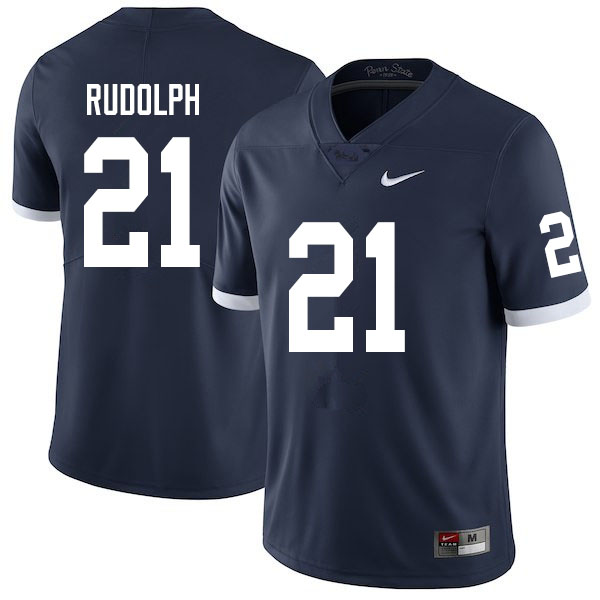 Men #21 Tyler Rudolph Penn State Nittany Lions College Throwback Football Jerseys Sale-Navy