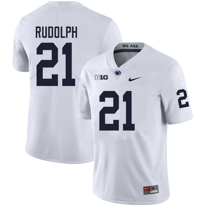 Men #21 Tyler Rudolph Penn State Nittany Lions College Football Jerseys Sale-White