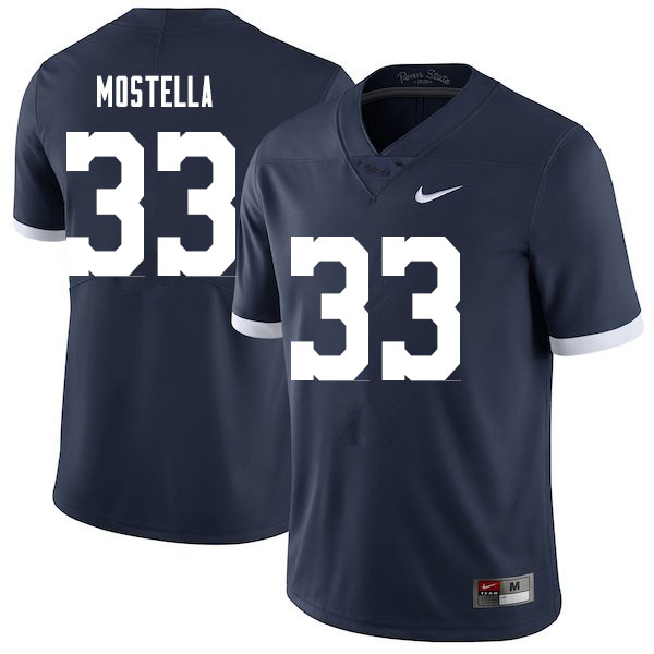 Men #33 Bryce Mostella Penn State Nittany Lions College Football Jerseys Sale-Throwback