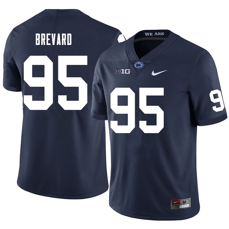Men #95 Cole Brevard Penn State Nittany Lions College Football Jerseys Sale-Navy