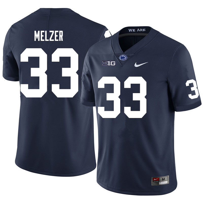 Men #33 Corey Melzer Penn State Nittany Lions College Football Jerseys Sale-Navy