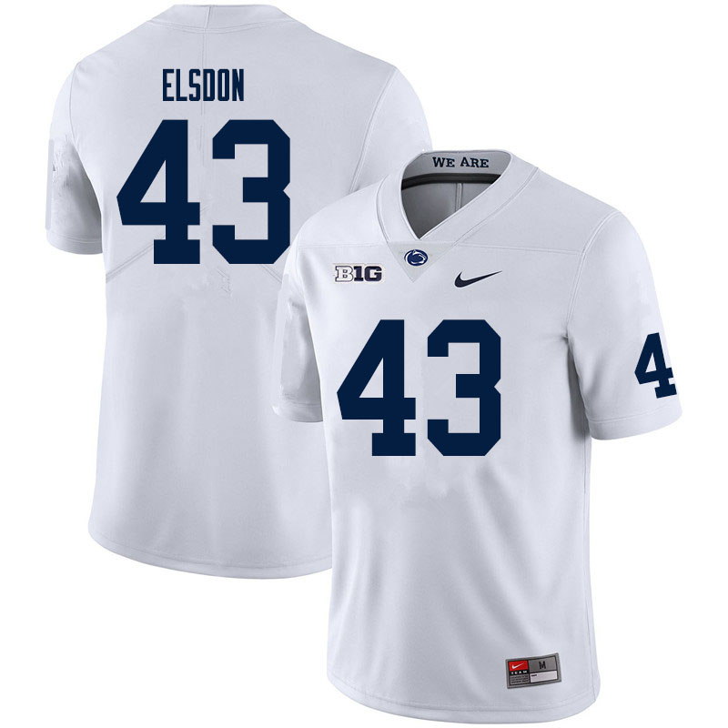 Men #43 Tyler Elsdon Penn State Nittany Lions College Football Jerseys Sale-White