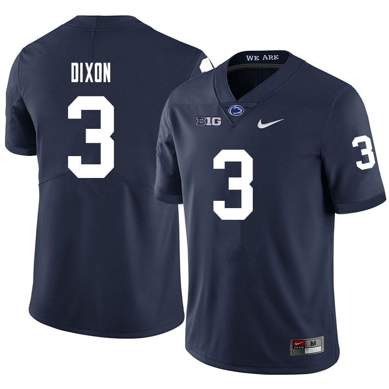 Men #3 Johnny Dixon Penn State Nittany Lions College Football Jerseys Sale-Navy