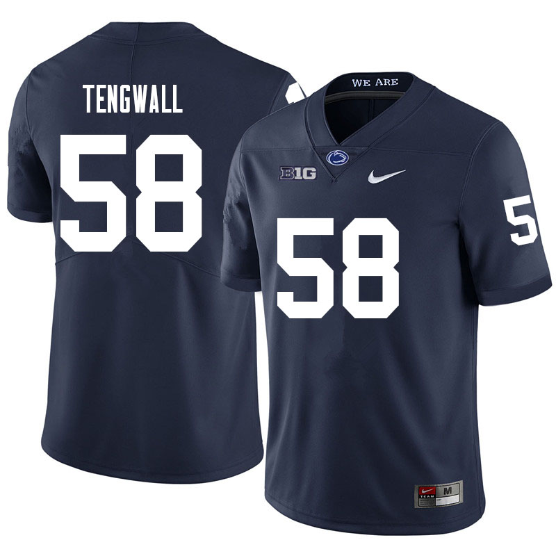 Men #58 Landon Tengwall Penn State Nittany Lions College Football Jerseys Sale-Navy