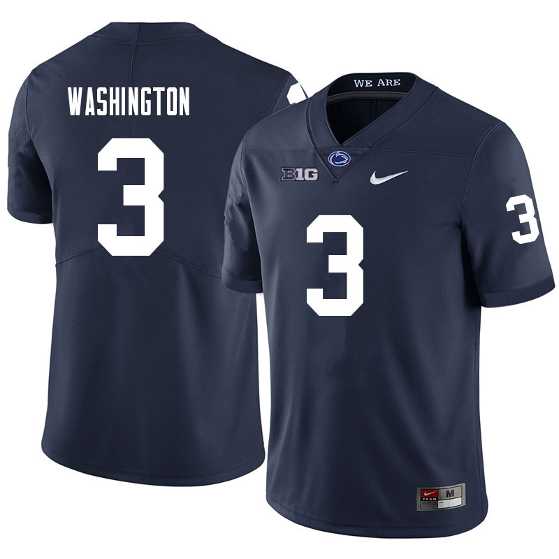 Men #3 Parker Washington Penn State Nittany Lions College Football Jerseys Sale-Navy