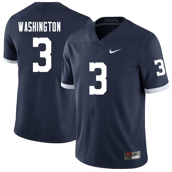Men #3 Parker Washington Penn State Nittany Lions College Football Jerseys Sale-Retro