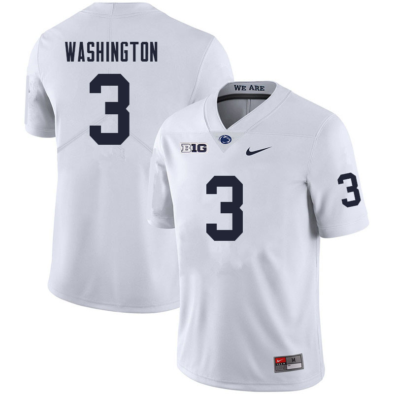 Men #3 Parker Washington Penn State Nittany Lions College Football Jerseys Sale-White