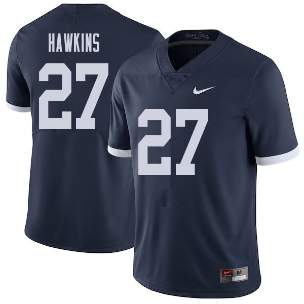 Men #27 Aeneas Hawkins Penn State Nittany Lions College Throwback Football Jerseys Sale-Navy