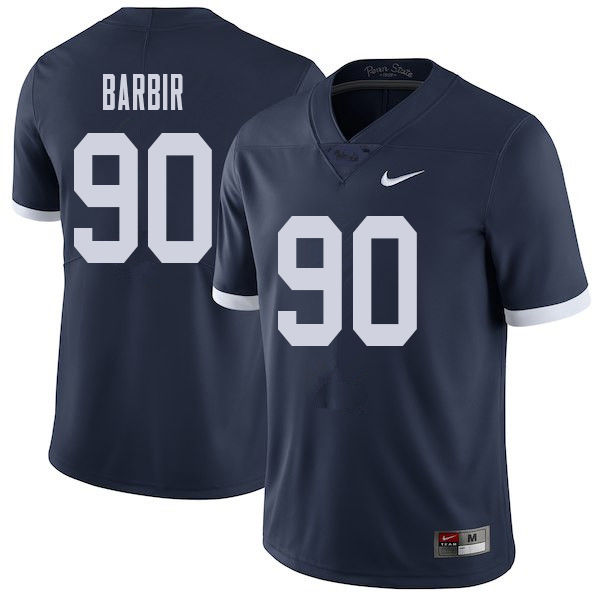 Men #90 Alex Barbir Penn State Nittany Lions College Throwback Football Jerseys Sale-Navy