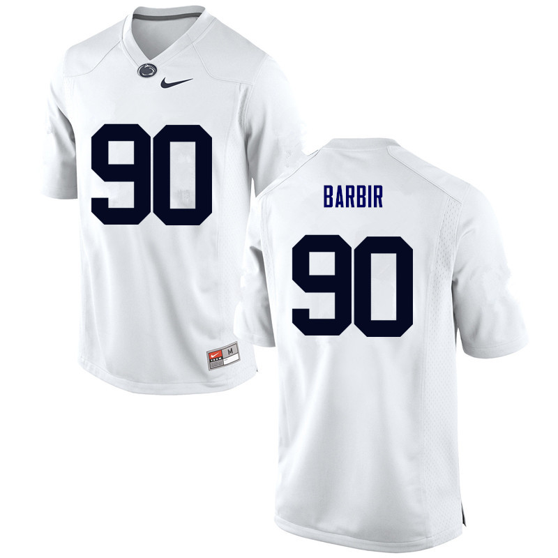 Men Penn State Nittany Lions #90 Alex Barbir College Football Jerseys-White