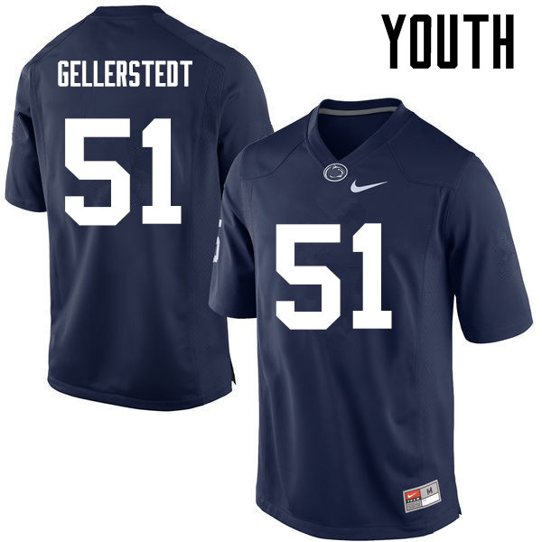 Youth Penn State Nittany Lions #51 Alex Gellerstedt College Football Jerseys-Navy