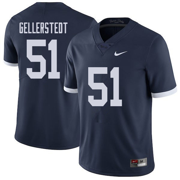 Men #51 Alex Gellerstedt Penn State Nittany Lions College Throwback Football Jerseys Sale-Navy