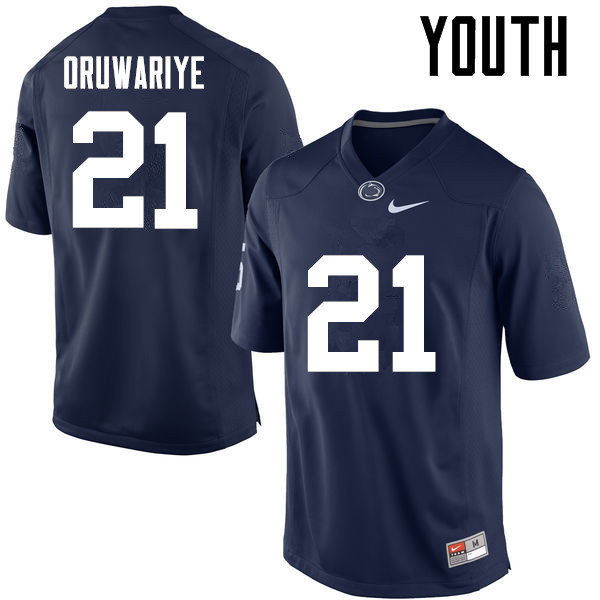 Youth Penn State Nittany Lions #21 Amani Oruwariye College Football Jerseys-Navy