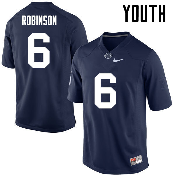 Youth Penn State Nittany Lions #6 Andre Robinson College Football Jerseys-Navy