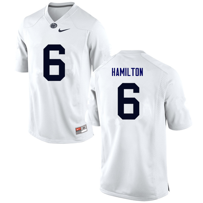 Men Penn State Nittany Lions #6 Andre Robinson College Football Jerseys-White