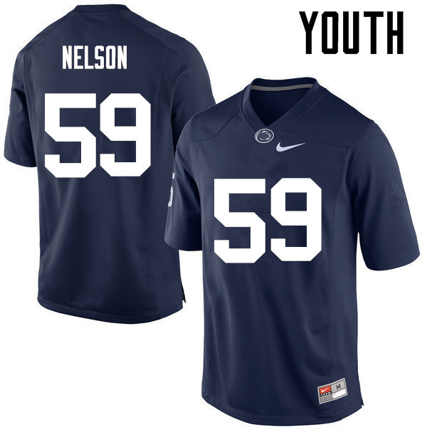 Youth Penn State Nittany Lions #59 Andrew Nelson College Football Jerseys-Navy