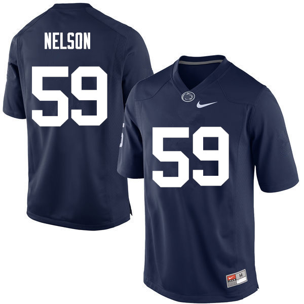 Men Penn State Nittany Lions #59 Andrew Nelson College Football Jerseys-Navy