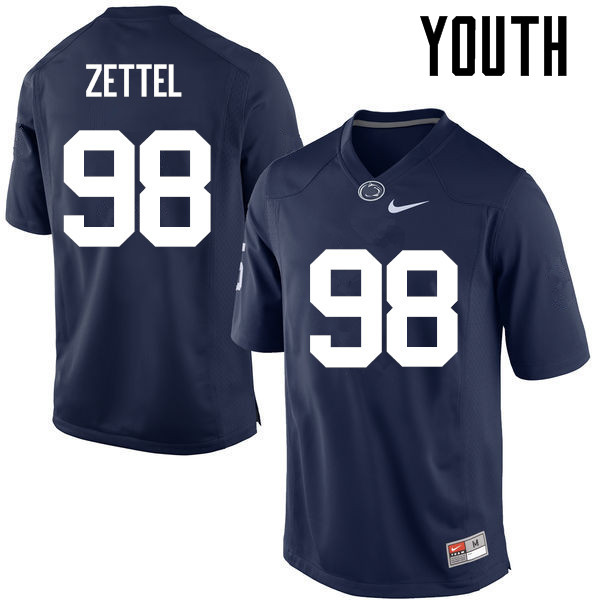 Youth Penn State Nittany Lions #98 Anthony Zettel College Football Jerseys-Navy