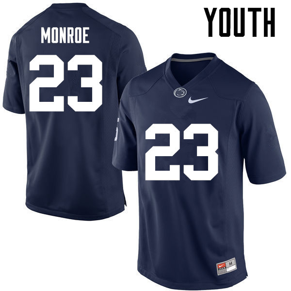 Youth Penn State Nittany Lions #23 Ayron Monroe College Football Jerseys-Navy